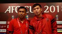 Pelatih Bali United Widodo C Putro pada konferensi pers jelang laga melawan Cebu United. (Liputan6.com/Dewi Divianta)