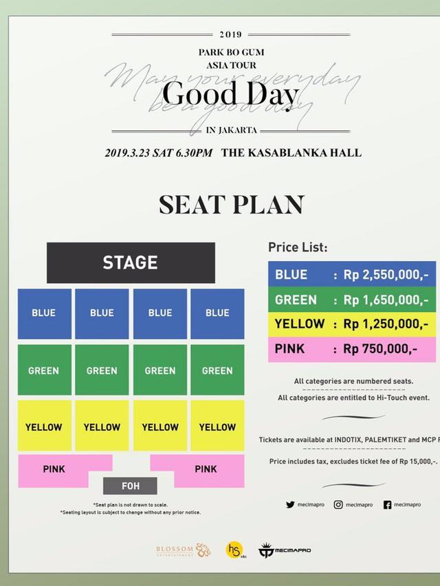 Seat Plan Jumpa Penggemar Park Bo Gum (Twitter/ mecimapro - https://twitter.com/mecimapro/status/1083332955420782593)