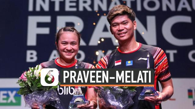 Pasangan ganda campuran Indonesia Praveen-Melati berhasil menjuarai ajang Prancis Terbuuka 2019.