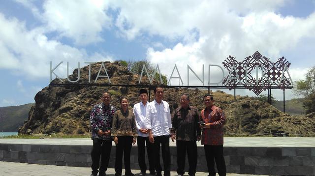 Jokowi saat Peresmian KEK Mandalika di Lombok