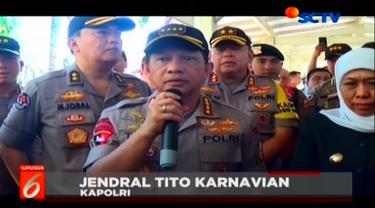 Kapolri Jenderal Tito Karnavian mengatakan telah menaikan satu tingkat pangkat dari Aiptu Agus Sumarsono. Aiptu Agus adalah korban penyerangan terduga teroris di Mapolsek Wonokromo, Surabaya.
