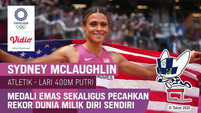 Berita video highlights final lari gawang 400 meter putri, di mana Sydney McLaughlin kembali mencetak rekor dunia, Rabu (4/8/2021) pagi hari WIB.