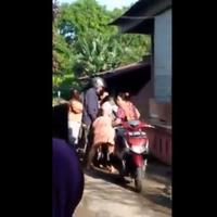 Hanya karena membanting pintu dua ibu di Takalar, Sulawesi Selatan bertengkar, satu tewas.  (Istimewa)