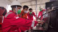 Tim MGS sedang melakukan pemetaan titik jatuhnya pesawat Sriwijaya Air SJ182. Foto: Henky Suharto/MGS.