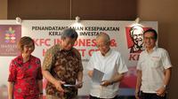 Direktur Utama PT. Dwikarya Langgengsukses Sentot Sudaryono dan Direktur PT. Fast Food Indonesia Justinus D. Juwono