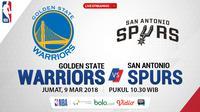 Jadwal NBA, Golden State Warriors Vs San Antonio Spurs. (Bola.com/Dody Iryawan)