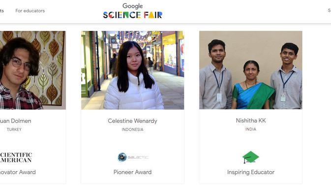 Beberapa Pelajar Peraih Penghargaan di Google Science Fair 2019. Kredit: Google