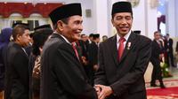 Ketua Dewan Pengawas KPK Tumpak Hatorangan Panggabean di Istana Negara, Jumat (20/12/2019). (foto: Biro Pers Setpres)