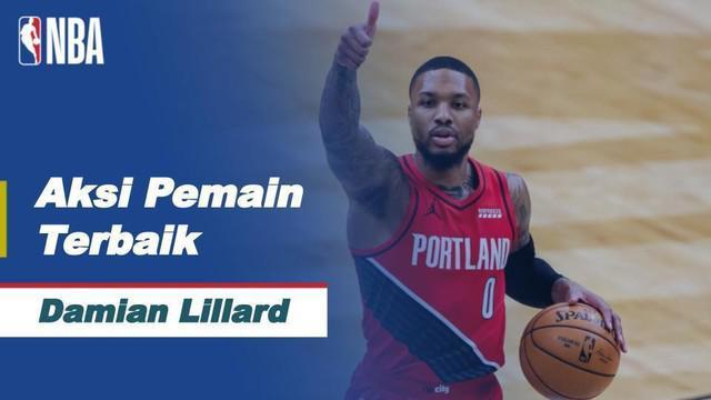 Berita Video Aksi-Aksi Terbaik dari Bintang Portland Trail Blazers, Damian Lillard di NBA Hari Ini