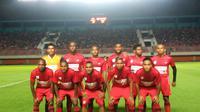 Persipura Jayapura saat melawan PSS Sleman dalam uji coba di Stadion Maguwoharjo, Sleman, Kamis (9/5/2019). (Bola.com/Vincentius Atmaja)