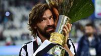 Pemain berjuluk Il Metronome itu sempat memperkuat tiga kesebelasan besar Italia, Inter Milan, AC Milan dan Juventus.(AFP/ Guiseppe Cacace)