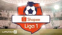 Banner Kompetisi Shopee Liga 1. (Liputan6.com/Abdillah)