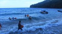 Nelayan Sangihe menyatu dengan laut (Liputan6.com / Yoseph Ikanubun)