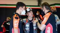 Maverick Vinales saat mengikuti sesi tes bersama tim Aprilia di tes Misano. (Aprilia Racing)