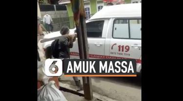Warga Mandailing Natal Sumatera Utara mengamuk dan merusak sejumlah kendaraan hari Senin (25/1). Aksi ini dipicu tewasnya 5 warga akibat menghirup udara beracun.