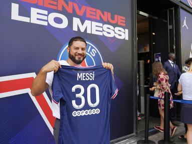 Paris Saint-Germain (PSG) mulai merasakan berkah dari hadirnya megabintang asal Argentina, Lionel Messi, ke tim kebanggaan warga Paris itu. (Foto: AP/Francois Mori)