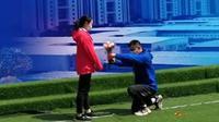 Cinlok di RS Khusus Corona, Wuhan, Tiongkok (Sumber: China News)