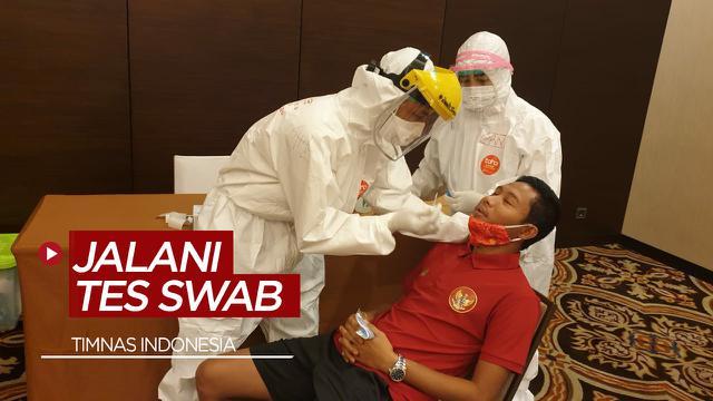 Timnas Indonesia Jalani Tes Swab