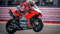 Pembalap Ducati, Jorge Lorenzo beraksi pada MotoGP San Marino 2018 di Sirkuit Marco Simoncelli. (Twitter/Ducati Motor)