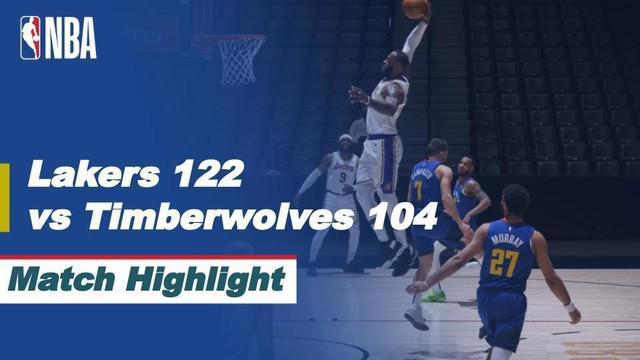 Berita video highlights pertandingan NBA 2020/2021 antara Minnesota Timberwolves melawan LA Lakers yang berakhir dengan skor 104-112, Rabu (17/2/2021) pagi hari WIB.