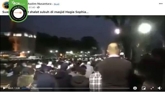 Cek Fakta Viral Video Suasana Salat Subuh Berjamaah Di Hagia Sophia Benarkah Cek Fakta Liputan6 Com