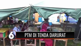VIDEO: Memprihatinkan, Ratusan Siswa SD di Mamuju Terpaksa Belajar Tatap Muka di Tenda Darurat