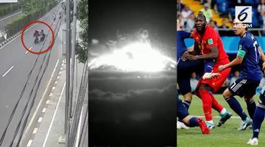Video hit hari ini datang dari rekaman erupsi Gunung Agung yang kembali terjadi, Jepang yang harus tersingkir dari Piala Dunia 2018 karena kalah dari Belgia, dan rekaman tarik-menarik ponsel yang menyebabkan wanita tewas di ojek online.