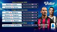 Pertandingan lengkap Liga Italia Serie A pekan 10 dapat disaksikan melalui platform streaming Vidio. (Dok. Vidio)