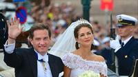Putri Madeleine dan Christopher O'Neill saat menikah pada 2013. (Creative Commons)