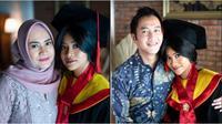 Momen wisuda online Siti Adira Kania. (Instagram/adirakania)