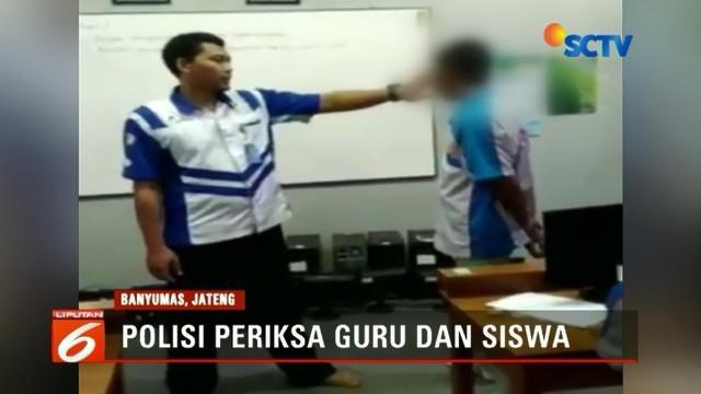 Polisi menetapkan guru di SMK Purwokerto penampar muridnya sebagai tersangka, dan menjeratnya dengan undang-undang perlindungan anak dengan ancaman 5 tahun penjara.
