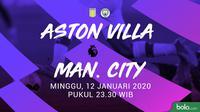Premier League - Aston Villa Vs Manchester City (Bola.com/Adreanus Titus)