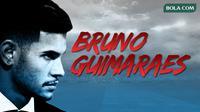 Bruno Guimaraes, pemain incaran Barcelona yang dijuluki gelandang terbaik dunia oleh Juninho. (Bola.com/Gregah Nurikhsani/JEFF PeACHOUD/AFP)
