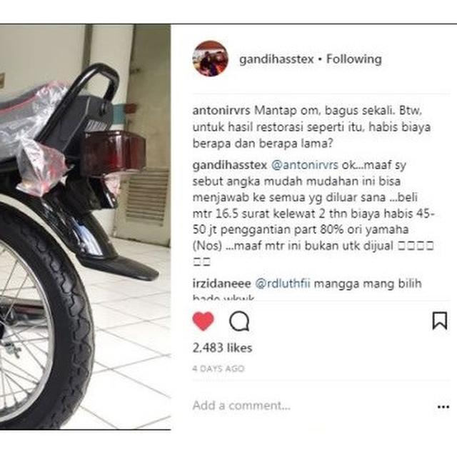 Cerita Di Balik Yamaha Rx King Senilai Ratusan Juta Rupiah