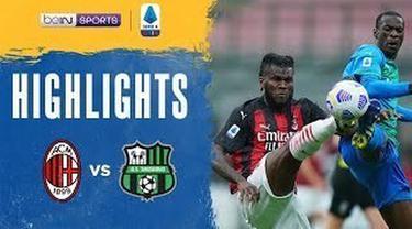 Berita Video Highlights Liga Italia, AC Milan Menelan Kekalahan dari Sassuolo (22/4/2021)