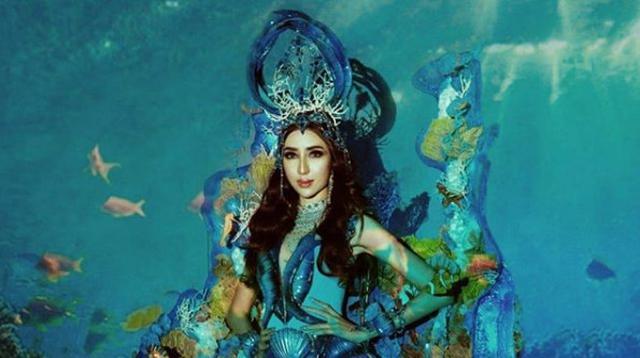 Nadia Purwoko akan gunakan busana nasional bawah laut Lombok di ajang Miss Grand International 2018 (Instagram/officialmissgrandindonesia)