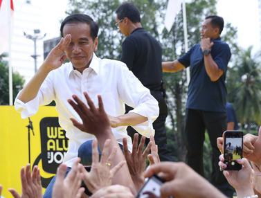 Usai Hadiri Deklarasi, Jokowi Sapa Pendukungnya