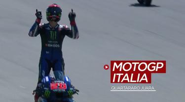 Berita video beragam peristiwa yang terjadi saat Fabio Quartararo menjadi juara di MotoGP Italia 2021.