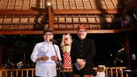 Bupati Anas dan Wagub Bali Cok Ake.
