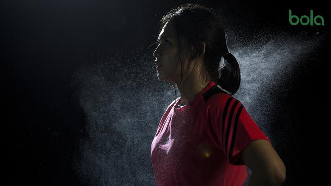 Karateka Indonesia, Ceyco Georgia, berpose saat berada di Tatsujin MMA South Quarter, Jakarta, Kamis (21/7/2018). Dirinya merupakan salah satu karateka yang akan turun pada Asian Games XVIII. (Bola.com/Vitalis Yogi Trisna)