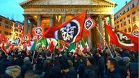 Ilustrasi bendera neo-fasisme (AFP Photo / Andreas Solaro)