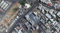Gambar satelit yang dirilis oleh Maxar Technologies ini menunjukkan puing-puing Menara Hanadi setelah serangan Israel yang meruntuhkannya di Kota Gaza, Jalur Gaza, Palestina, Rabu (12/5/2021). Israel dan Palestina semakin dekat ke perang habis-habisan. (Maxar Technologies via AP)