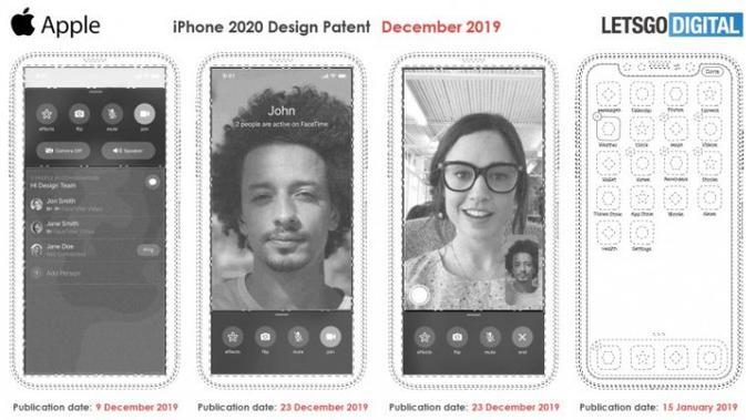 Paten desain iPhone 2020? (Doc: LetsGoDigital)