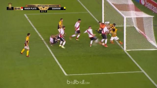 Berita video highlights Copa Libertadores, River Plate vs Guarani. This video presented by BallBall.