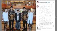 Presiden ketiga RI BJ Habibie meninggal dunia, Annisa Yudhoyono ucapkan duka cita. (Instagram @annisayudhoyono)