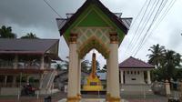 Kentungan yang terdapat di Masjid Gudang (Liputan6.com/Rino Abonita)