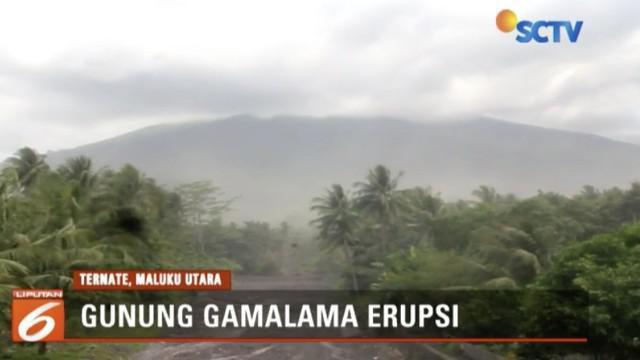 Tiga kelurahan terpapar debu vulkanik akibat erupsi Gunung Gamalama di Ternate, Maluku Utara.