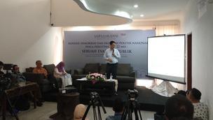 Rilis Survei SMRC. (Delvira Hutabarat/Liputan6.com)