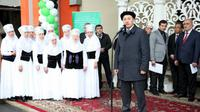 Pembukaan pameran di Kyrgyzstan yang diikuti KBRI Tashkent. (Sumber: KBRI Tashkent/SYK)
