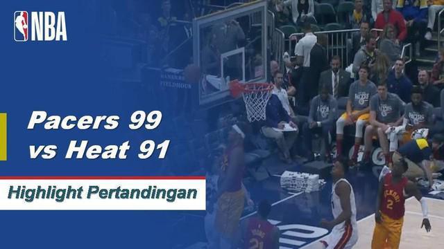 Tyreke Evans datang dari bangku cadangan dan membuat double-double dengan 23 poin dan 10 rebound saat Pacers mengalahkan Heat, 99-91.